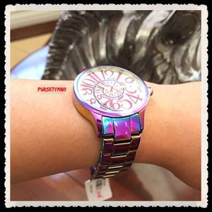 Authentic Betsey Johnson Rainbow Watch