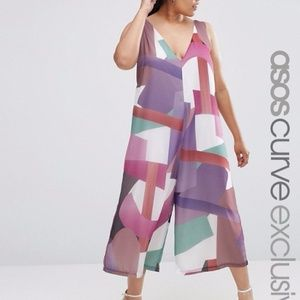 ASOS Abstract Print Jumpsuit