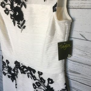 Taylor Dresses Corded Knit with Applique