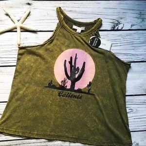 Adam Levine • Caliente Cactus Desert Crop Tank L
