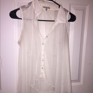 Tops - Sheer button up