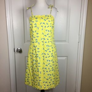 Vintage Lilly Pulitzer yellow blue dragonfly dress