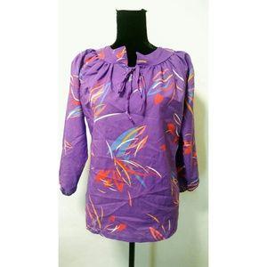Vintage 80's crazy print shirt top blouse