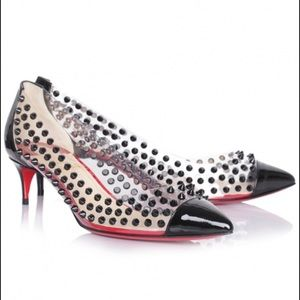 AUTHENTIC Spike Me Patent/PVC clear with studs