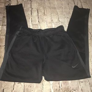 Nike therma fit pants workout athletic black gray
