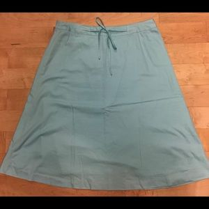 A-line cotton blue skirt