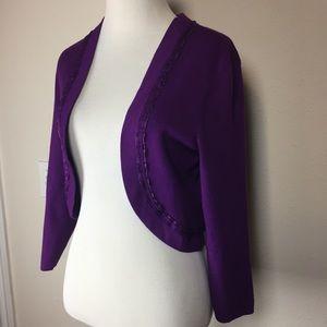 White House Black Market purple shrug large NWT