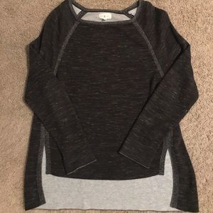 Lou & Grey | Black and Grey Hi-Low Sweater (L)