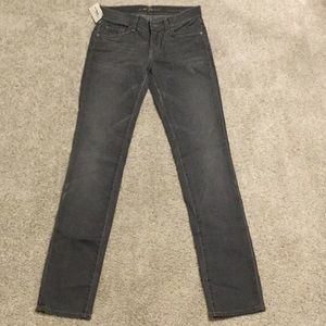 7 For All Mankind gray denim jeans