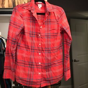 J crew perfect fit button up