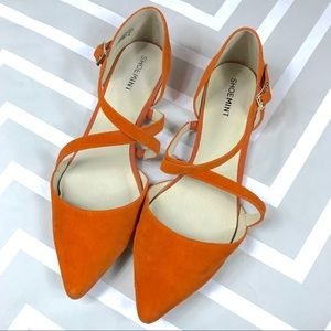 ✂️ Shoemint orange suede flats