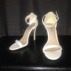 Anne Michelle White Single Strap Heels