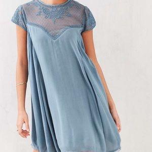 Kimichi blue trapeze dress