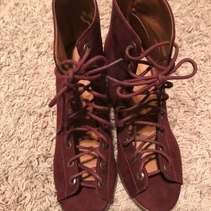 Women's lace up booties