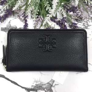 Tory Burch Thea Leather Multi-Gusset Zip Wallet