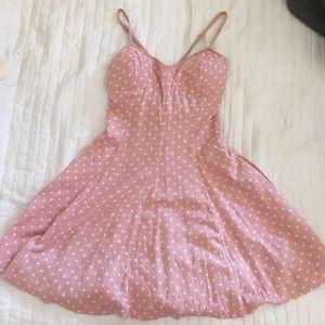 Salmon Pink Polka Dot Dress