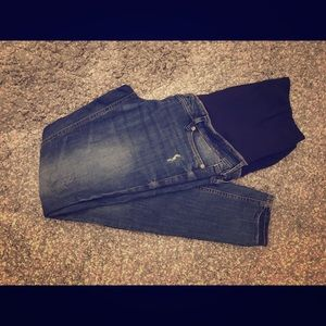 H&M Mama distressed skinny maternity jeans