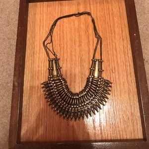 Gold statement necklace from urban outfitters