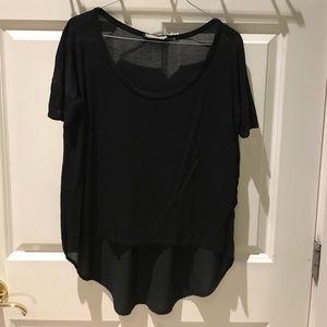 Swingy hi-low Black t-shirt