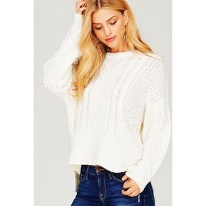 Sweaters - Chunky Knit Pullover Sweater