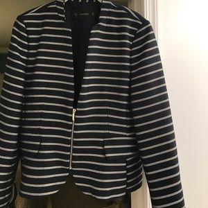 Zara navy blue stripe jacket