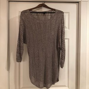 Express gray knit sweater, good condition, size M