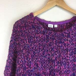 Gap Women's Chunky Knit Sweater Purple Pink Sz XL