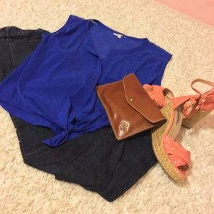 Blue American Eagle Outfitters top