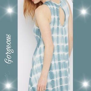 🌟🌟💙 Tie dye firty cutout keyhole dress 🌟🌟💙