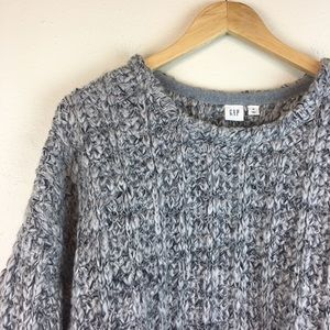 Gap Women's Gray Chunky Knit Sweater Size XL