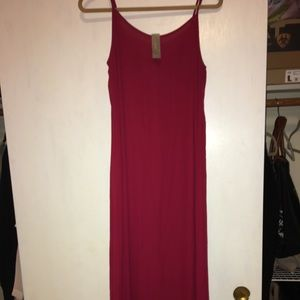 J. Crew chiffon maxi dress in red