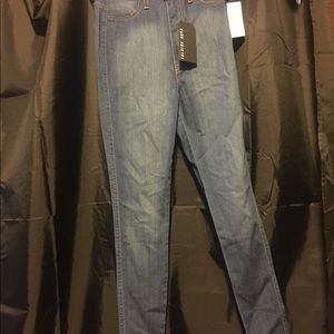 Fashion Nova High Waisted Jeans - Size 7 Med Blue