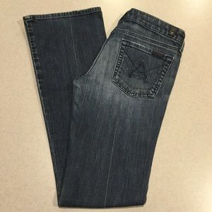 7 For All Mankind Jeans 28X33 A Pocket Chain NYD