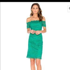 NWT RSVP by BB Dakota green lace dress