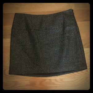 EXPRESS Black Sparkle Mini Skirt