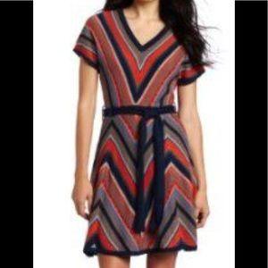 NWT Jessica Simpson Navy Chevron Sweater Dress