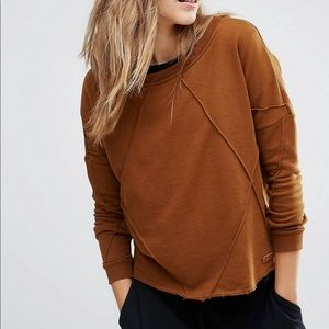 Slouchy sweater with detailed seam