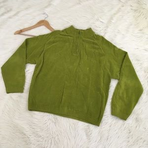 VTG Tommy Bahama Men's 1/2 Zip Green Sweater