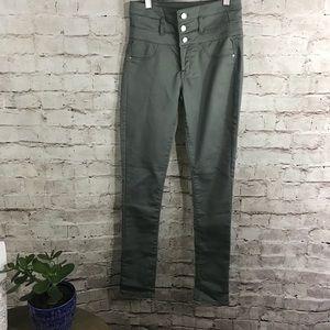 Refuge high waist olive green pants