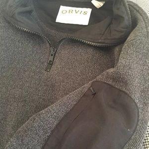 Orvis quarter zip sweater Men's Medium arm pocket