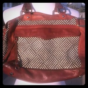 Patterned leather Minkoff purse, perf 4 🍂🍂🍂