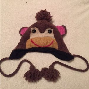 Monkey fleece lined wool beanie