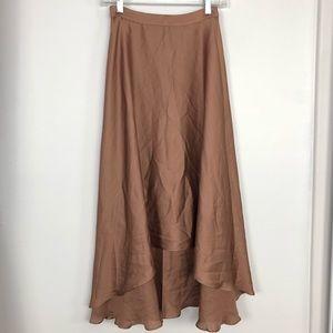 ASOS Brown Hi-Lo Skirt. NWT