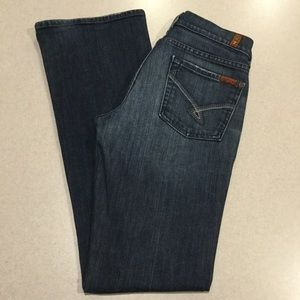 7 For All Mankind Jeans 27X33.5 Bootcut Swirl NYD!