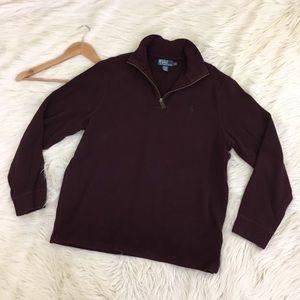 VTG Polo Ralph Lauren Mens Maroon 1/2 Zip Sweater