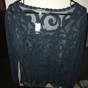 Tops - Lace long sleeve top