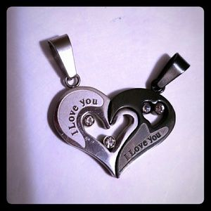 """""""I love you"""" necklaces"""