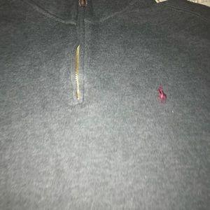Polo Ralph Lauren sweater zip up xxl gray