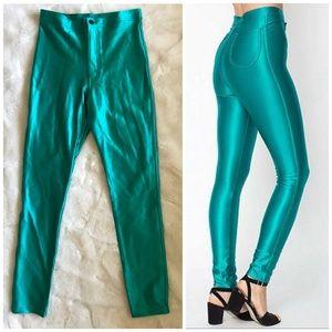 RARE American Apparel Disco Pants [Peacock Green]