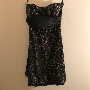 White House Black Market winter strapless dress.